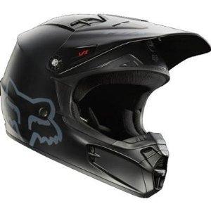 Fox Racing Matte Youth V1 Off-RoadDirt Bike Motorcycle Helmet - Matte Black  Small