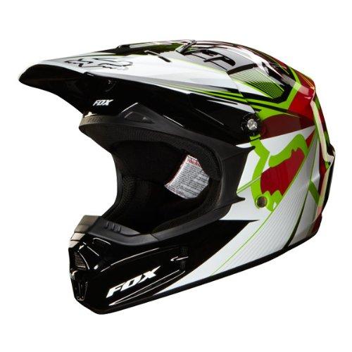 Fox Racing Radeon Youth V1 Off-RoadDirt Bike Motorcycle Helmet - Red  Small