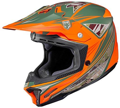 HJC Dynasty Mens CL-X7 MXOff-RoadDirt Bike Motorcycle Helmet - MC-6F  Medium