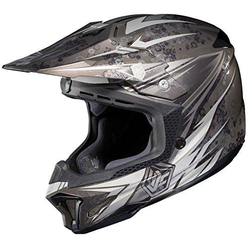 HJC Pop-N-Lock Mens CL-X7 MotoXOff-RoadDirt Bike Motorcycle Helmet - MC-5  2X-Large
