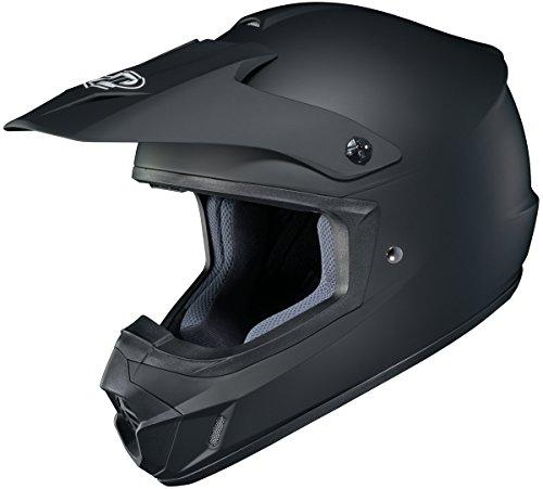 HJC Solid Adult CS-MX 2 Dirt Bike Motorcycle Helmet - Matte Black  Medium