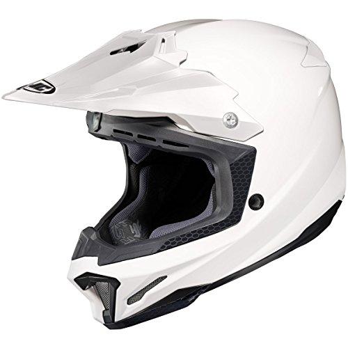 HJC Solid Mens CL-X7 Off-RoadDirt Bike Motorcycle Helmet - White  Medium