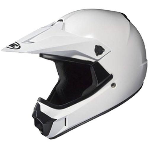 HJC Solid Youth Boys CL-XY MotoXOff-RoadDirt Bike Motorcycle Helmet - White  Large