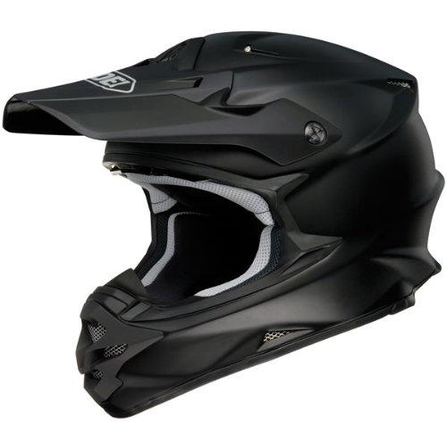 Shoei Solid VFX-W Off-RoadDirt Bike Motorcycle Helmet - Matte Black  Medium