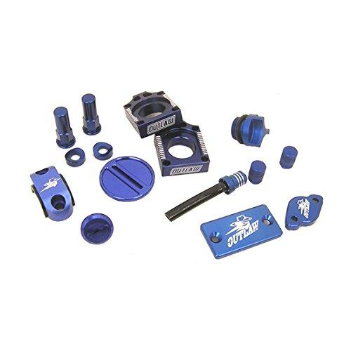 Outlaw Racing Complete Billet MX Motocross Kit Blue KX125 KX250