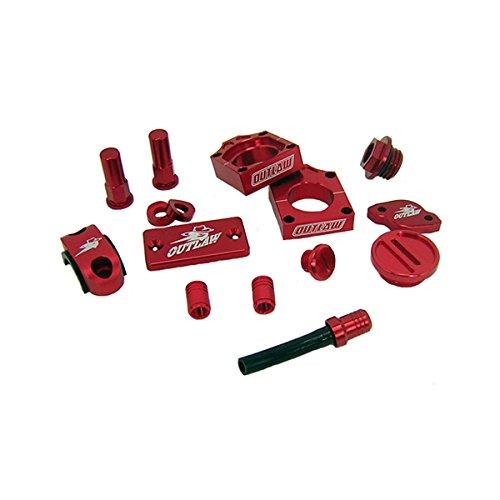 Outlaw Racing KIT25R Complete Billet MX Motocross Kit Red Honda CRF250 2009