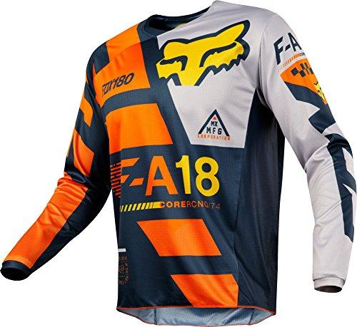 Fox Racing 180 Sayak Mens Off-Road Motorcycle Jerseys - Orange  Small