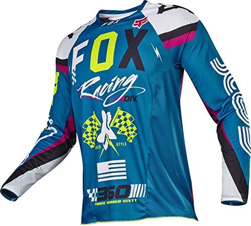 Fox Racing 360 Rohr Mens Off-Road Motorcycle Jerseys - Teal  Medium