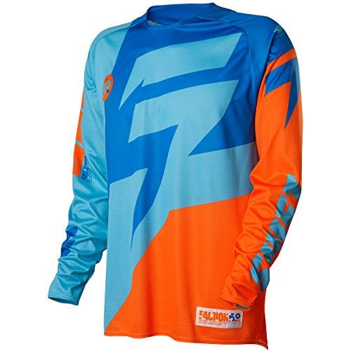 Shift Racing Faction Mens Off-Road Motorcycle Jerseys - OrangeBlue  Large