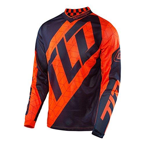 Troy Lee Designs GP Quest Boys Off-Road Motorcycle Jerseys - Flo OrangeNavy  Large