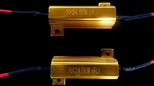 50W 6Ohm LED Load Resistors for LED Turn Signal Lights or LED License Plate Lights Fix Hyper Flash Warning Cancellor