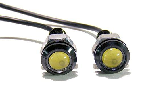 LED Turn Signal Indicators Screw Bolts Fits Jeep TJ CJ JK YJ Wrangler White Pack of 2