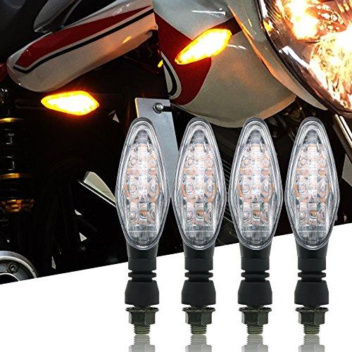 BSK Front and Rear Motorcycle LED Turn Signal Light Universal for KTM Kawasaki Suzuki Yamaha Set of 4
