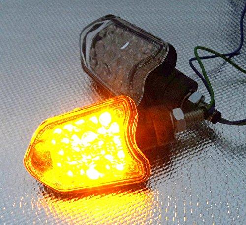 Motorcycle LED Turn Signals Indicators Blinkers 27 LED Lights Side Markers
