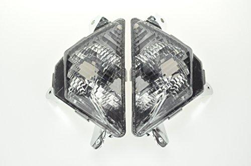 Motorcycle front turn signal Smoked Lens FOR KAWASAKI 13-14 ZX-636