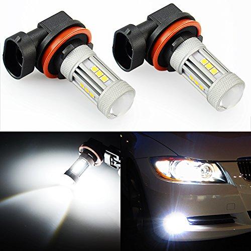 JDM ASTAR 2600 Lumens Extremely Bright 3030 Chipsets H11 LED Fog Light Bulbs for DRL or Fog Lights Xenon White H11