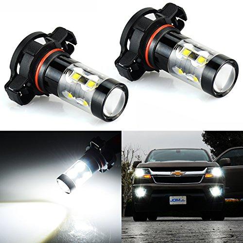 JDM ASTAR Extremely Bright Max 50W High Power 5202 5201 LED Fog Light Bulbs for DRL or Fog Lights Xenon White