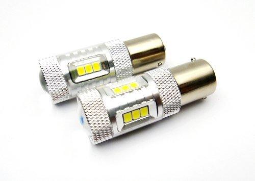 LEDIN 2x SAMSUNG 15 SMD 1156 Projector LED Front Turn Signal Light Bulb 7506 P21W BA15s
