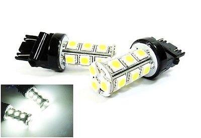 LEDIN 2x White High Power 18 SMD LED Front Turn Signal Light 3157 3156 3457 4157