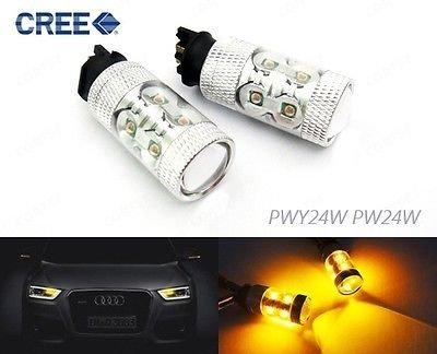 LEDIN No Error PWY24W Amber CREE LED Front Turn Signal Light Audi VW BMW F30