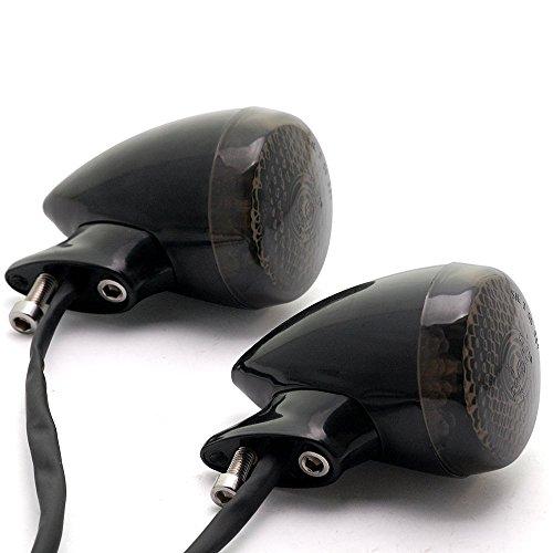 2pcs Custom 18 Smoke LED Black Amber Turn Signal Light Rear Mount For Harley Davidson Cruiser Chopper Touring