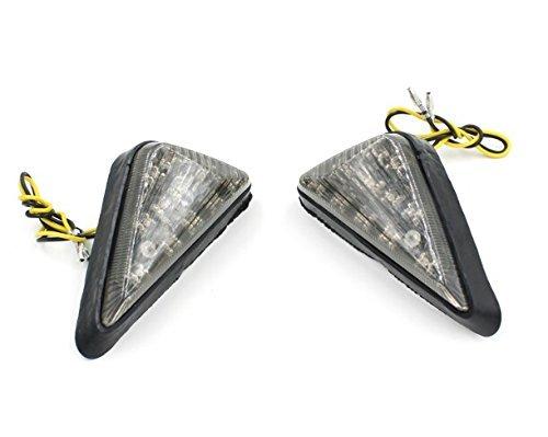 E-Bro 2PCS Amber Motorcycle Flush Mount LED Triangle Turn Signals Light Blinkers