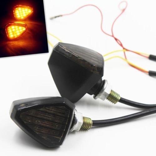 Universal Amber LED Turn Signal Light Indicator Light Blinker Bobber Motorcycle For BMW Honda Yamaha Suzuki Kawasaki Chopper Bobber Custom black and smoke
