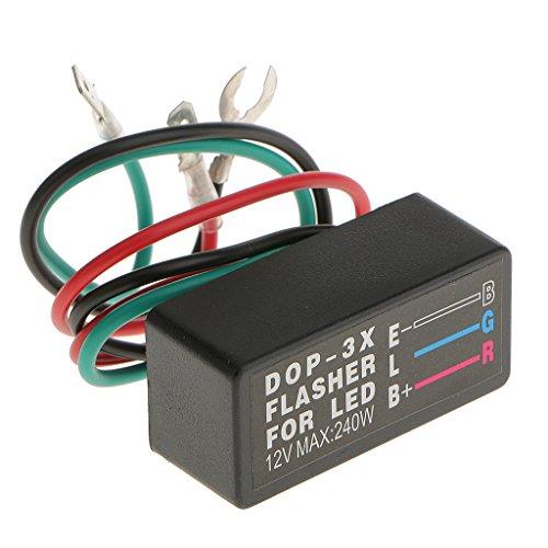 Universal 12V 3-Pin Motorcycle LED Turn Signal Light Flasher Blinker Relay