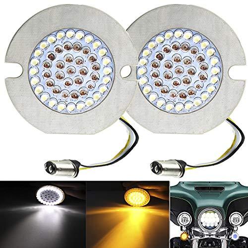 ZYTC 3 14 LED Turn Signals Flat Style Front 1157 LED Turn Signal Kit For Harley Davidson
