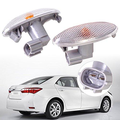 beler Amber Fender Side Marker Side Turn Signal Light Fit for Toyota Corolla Auris Yaris RAV4
