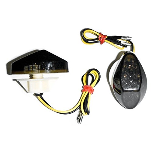 Krator Flush Mount LED Turn Signals Indicators Smoke Lens For 1997-2006 Honda CBR 600 F3F4F4i
