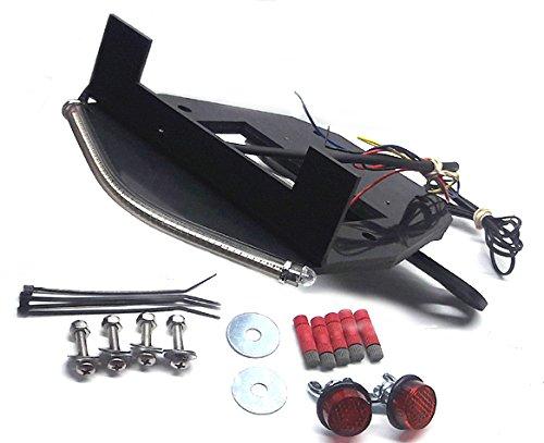 Honda Grom MSX125 2017 SS LED Light Bar Fender Eliminator Kit with LED Flasher Relay - Red Turn Signals Red Lens