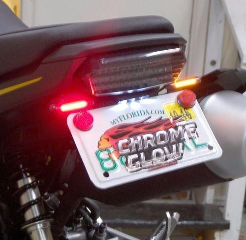 Honda Grom MSX125 LED Fender Eliminator Kit with LED Flasher Relay - Red Turn Signals Clear Lens