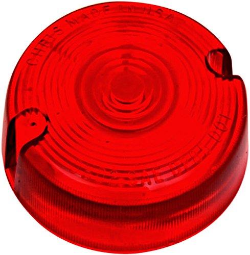 Red Turn Signal Lens Harley Softail Fat Boy - FLSTF 1990-2001 repl OEM 68457-86