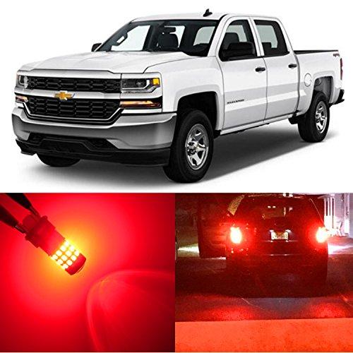 Alla Lighting 2x Super Bright Red 3047 3157 3157KX 3047KX LED Bulbs Rear Turn Signal Brake Stop Tail Light Lamps for 1999~2013 Chevy Chevrolet Silverado 1500  2000~2014 Silverado 2500 HD 3500 HD