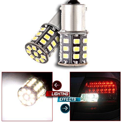 CCIYU QTY2 Xenon White 800 Lumens 33-2835-SMD LED Bulbs 2057 2357 7528 BAY15d S25 for Reverse Brake Rear Turn Signal Light Fit 2014 Mini Cooper Paceman