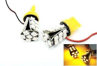 LEDIN 2x No Error 7440 Amber 24 SMD LED Rear Turn Signal Light Bulb 7443 7441 992 T20