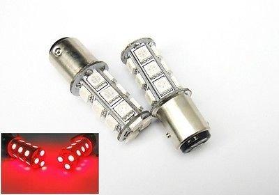 LEDIN 2x Red 1157 High Power 18 SMD LED Rear Turn Signal Light Bulbs BAY15d 7528 2357
