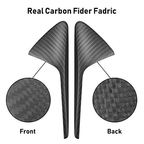 TOPlight Tesla Model 3 S X Autopilot 20-30 Real Carbon Fiber Camera Trim 2 pcs Carbon Fiber Car Camera Cover fits Tesla Model 3 Sedan 4D 2017-2019 Carbon Fiber Side Markers Turn Signal Matt