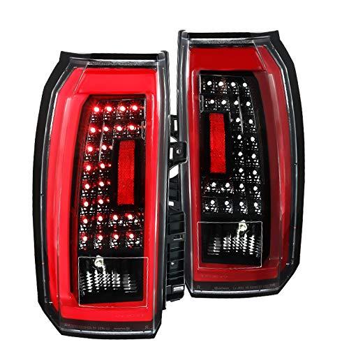 Spec-D Tuning For GMC Yukon XL SUV Clear LED Jet Black Tail Lights Rear Brake Lamps LeftRight