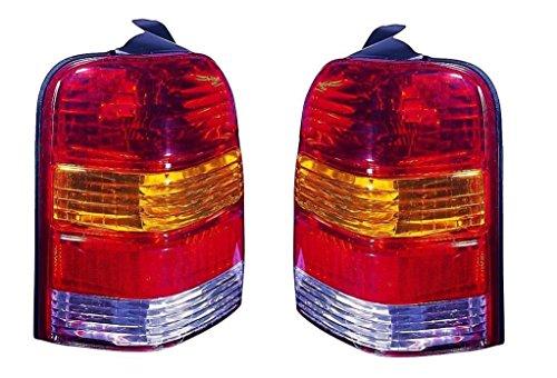 2001 - 2007 Ford Escape Taillight Taillamp Pair Set Both Driver and Passenger NEW 6L8Z13405DA 6L8Z13404DA FO2818102 FO2819102