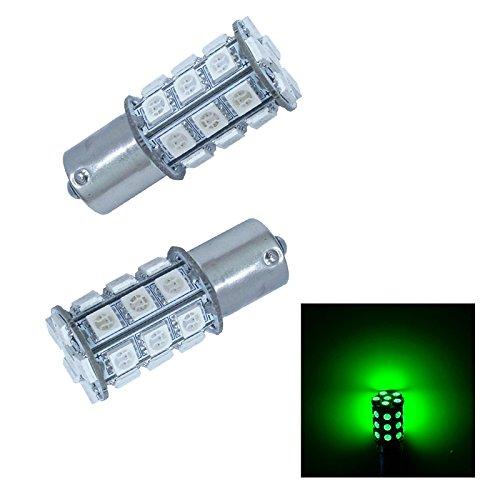 PA2pcs Ba15s 1156 30 SMD LED AUTO Turn Signal Light Side Marker LightBrake Light Bulbs 12V-Green