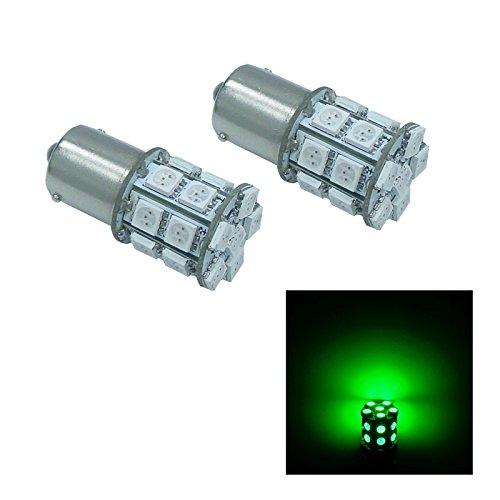 PA2pcs BaU15s 1156 20 SMD LED AUTO Turn Signal Light Side Marker LightBrake Light Bulbs 12V-Green