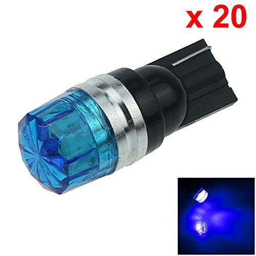 ZHANSHENZHEN Blue Auto Turn Signal Light Wedge Lamp 2 Emitters 5630 SMD LED DC 12V 2921 2825 12256 A119-B Pack of 20