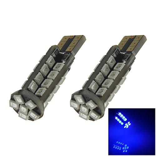 ZHANSHENZHEN Blue Auto Turn Signal Light Wedge Lamp 38 Emitters 2835 SMD LED DC 12V 2921 2825 12256 Z20246 Pack of 2
