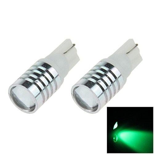 ZHANSHENZHEN Green Auto Turn Signal Light Wedge Lamp Lens 1 Emitters CREE LED DC 12V 2921 2825 12256 A079-G Pack of 2