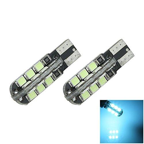 ZHANSHENZHEN Ice Blue Auto Turn Signal Light Wedge Lamp Canbus Error Free 24 Emitters 2835 SMD LED DC 12V 2921 2825 12256 A105-BB Pack of 2