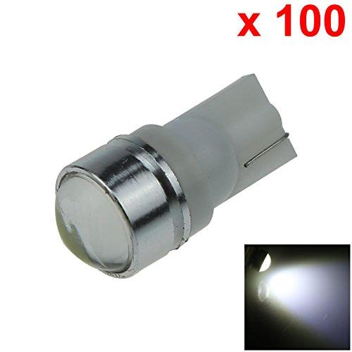 ZHANSHENZHEN White Auto Turn Signal Light Wedge Lamp Lens 1 Emitters COB SMD LED DC 12V 2921 2825 12256 A133-W Pack of 100