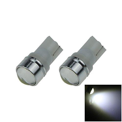 ZHANSHENZHEN White Auto Turn Signal Light Wedge Lamp Lens 1 Emitters COB SMD LED DC 12V 2921 2825 12256 A133-W Pack of 2