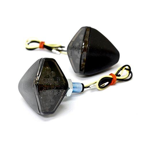 Krator Mini Custom LED Turn Signal Indicator Lights Lamp For Honda Helix Ruckus Reflex Elite Silver Wing